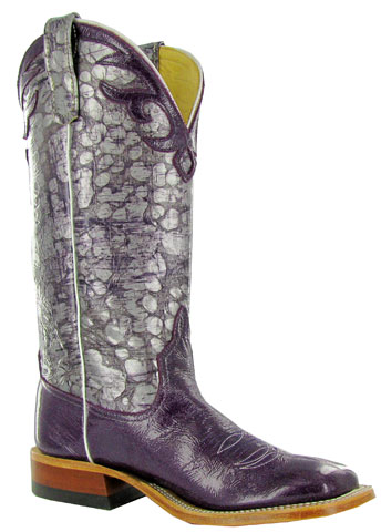 Anderson Bean cowboy boots in purple