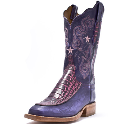 purple Lucchese cowboy boots
