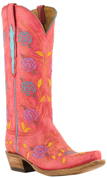 Floral Lucchese cowboy boots