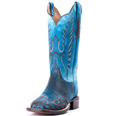 Lucchese cowboy boots in blue & black