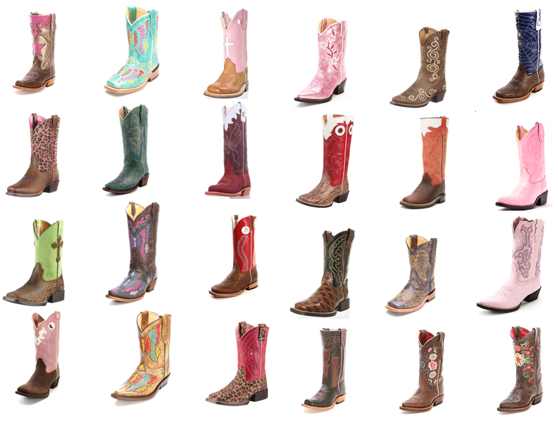 24 pairs of kid u0026 39 s cowboy boots