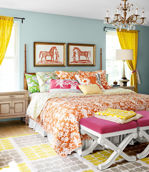Bright Colorful Tween Bedroom: Horses & Heels