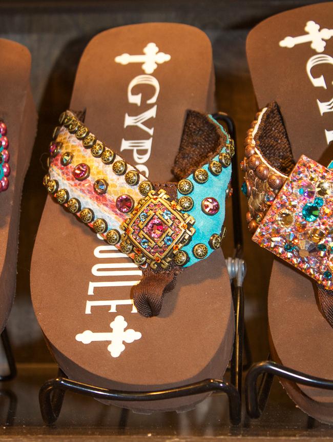 2a0a134eb21 Gypsy Soule flip flop in brown
