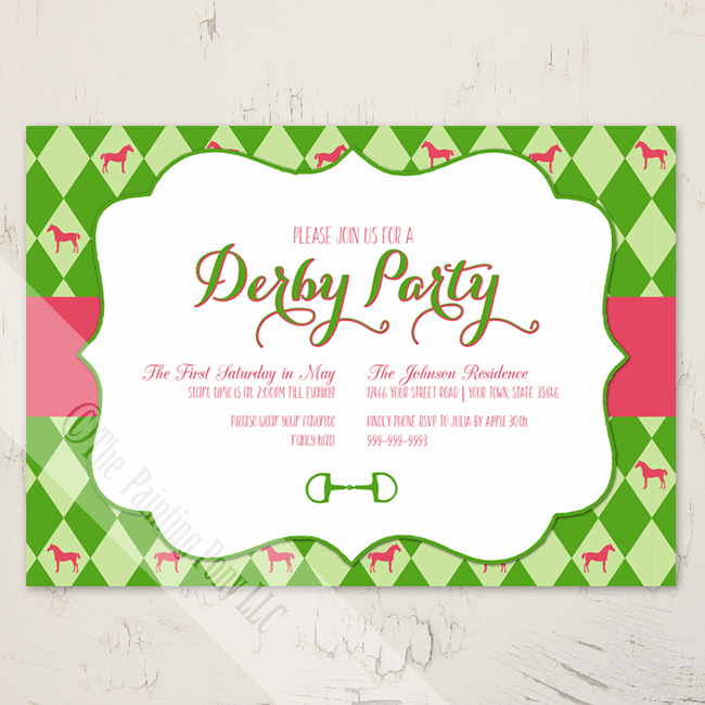 Equestrian Party Invitations For Spring Horses Amp Heels