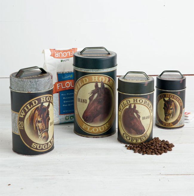 western kitchen canister sets canisters for your kitchen horses amp heels 22657