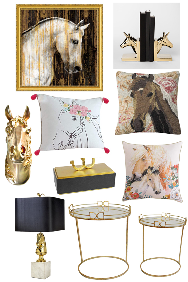 Decorate Your Home With Glamorous Equestrian Decor Horses Heels