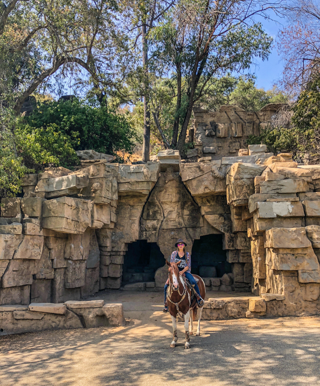 horseback riding to the old zoo