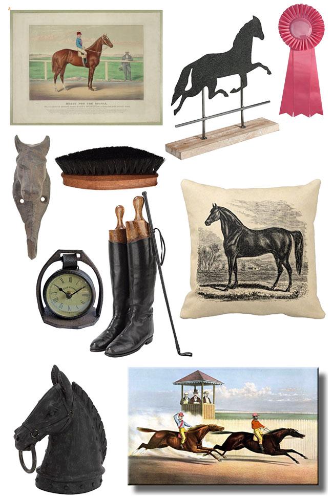 vintage inspired equestrian home decor finds horses heels