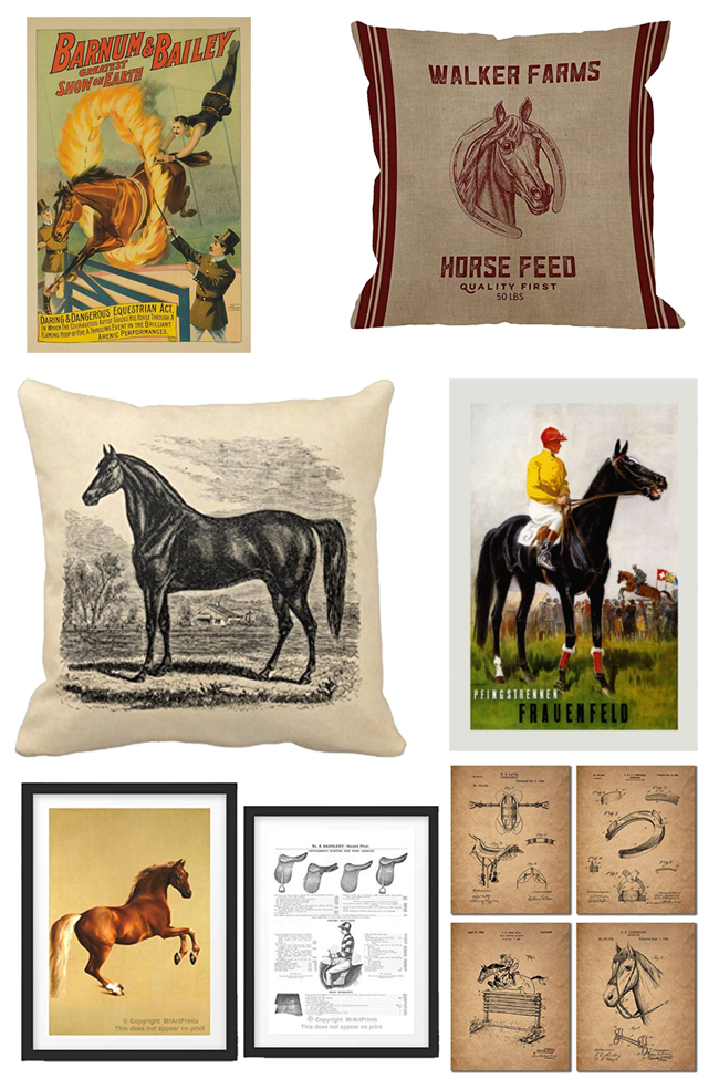 Vintage Inspired Equestrian Home Decor Finds Horses Heels
