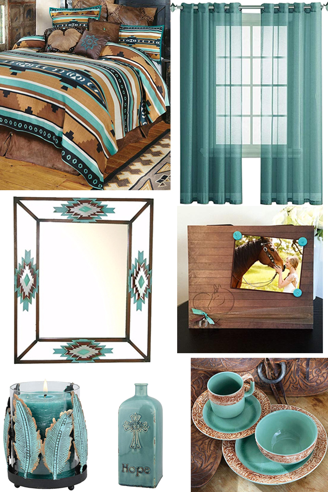 40 Ways To Add Turquoise To Your Western Home Horses Heels