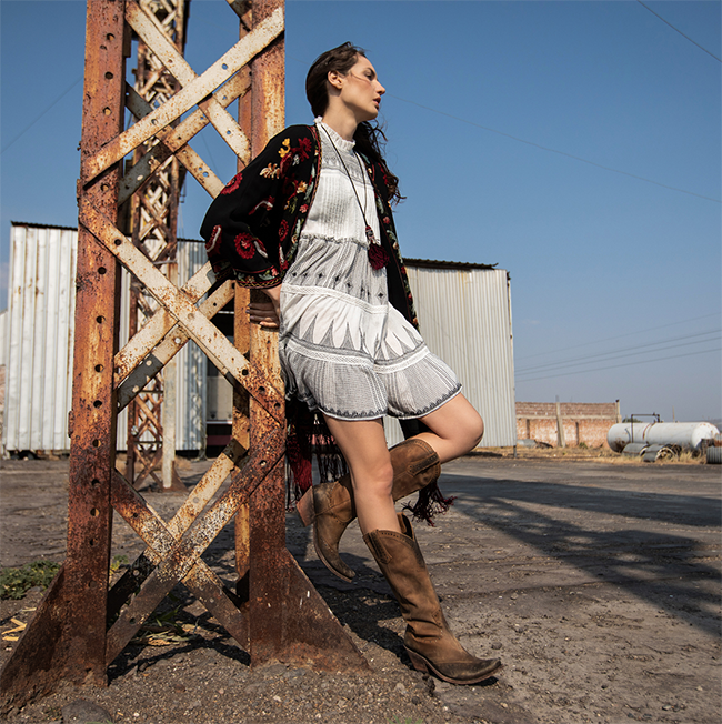 Western style and cowboy boots