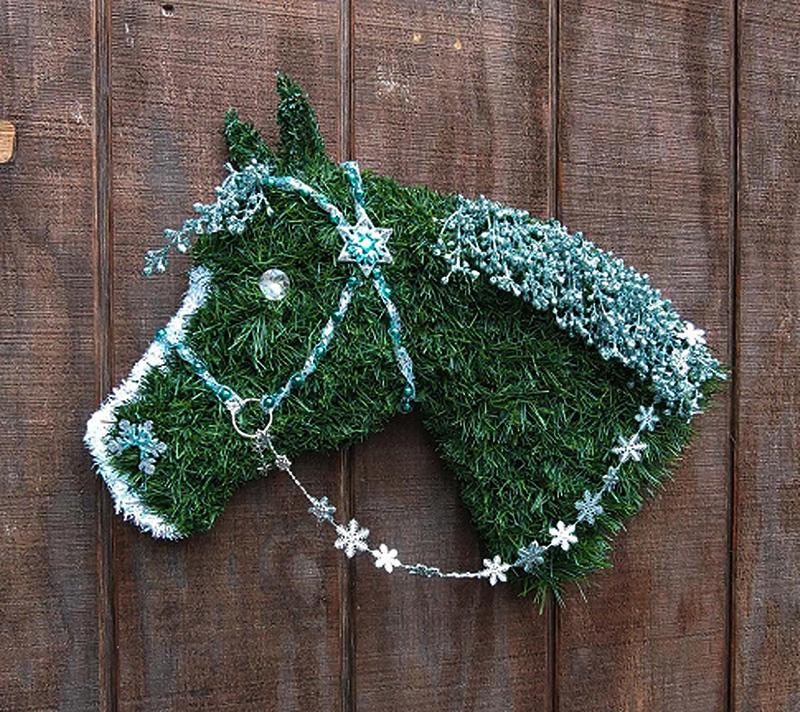 Couronne de Noël de quart de cheval