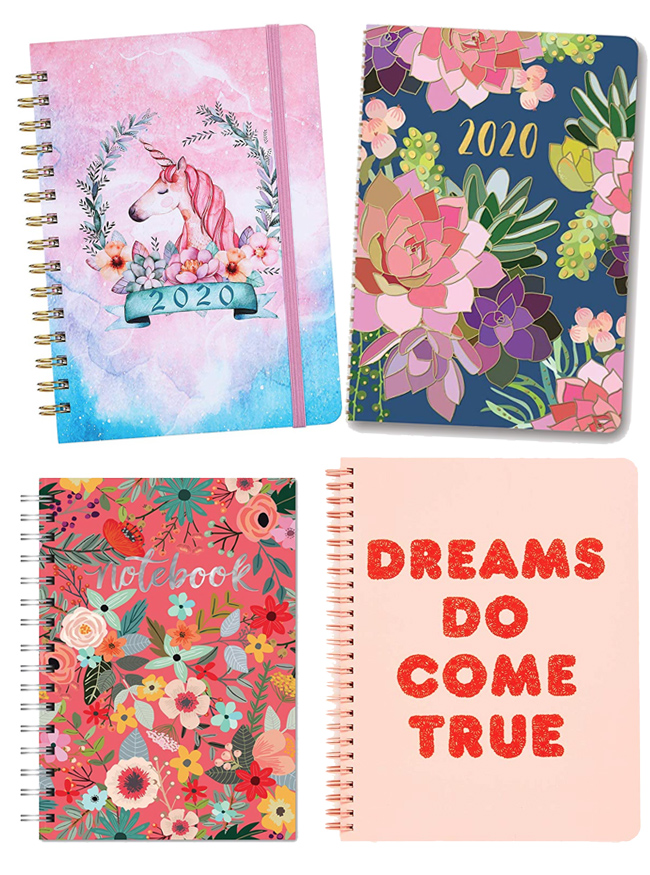 Colorful planners for 2020