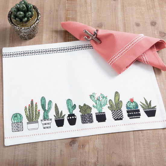 Set de table cactus