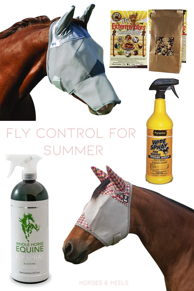 Controle de mosca para o verão com cavalos
