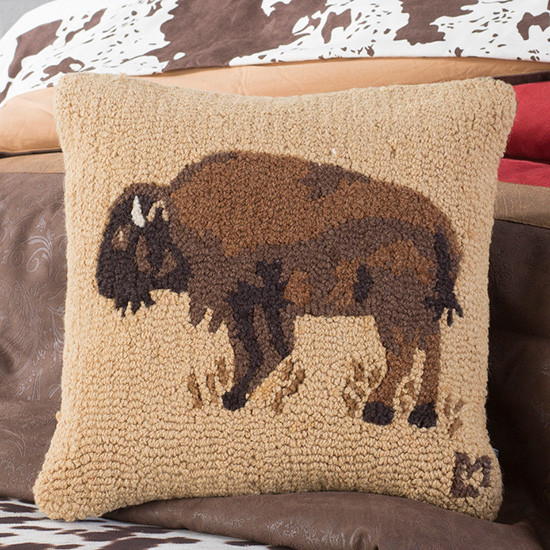 Almofada dourada com gancho de búfalo