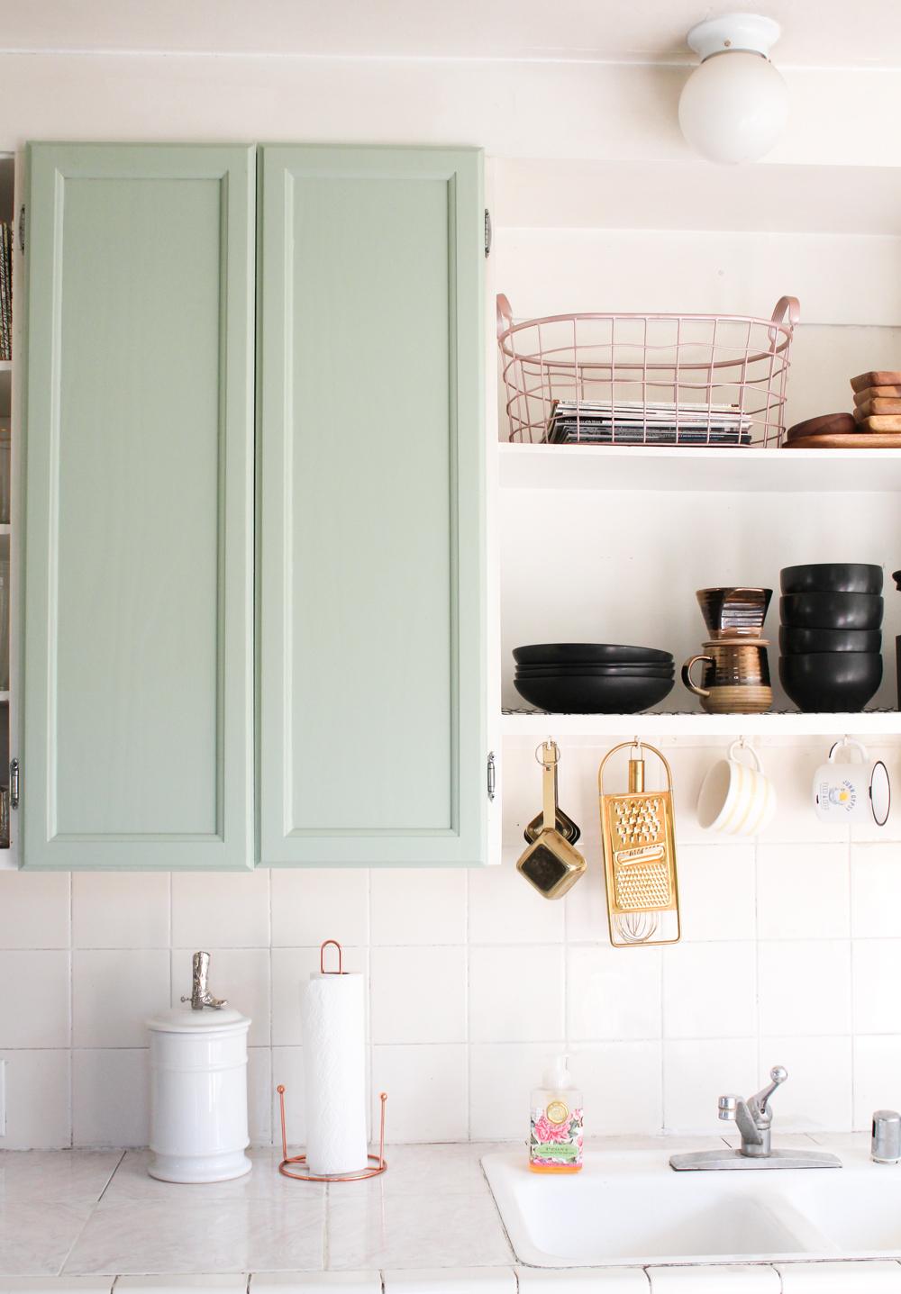 Armoires de cuisine vertes