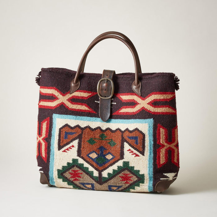 Cabas en laine aztèque
