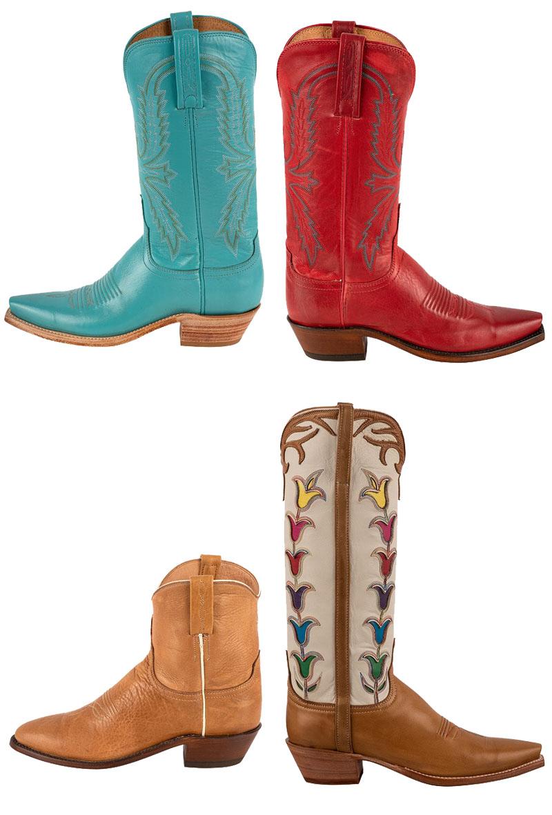 Bottes de cowboy Lucchese pour le printemps pour femme